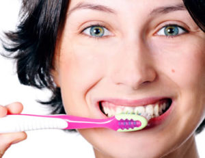 Oral health teeth brushing